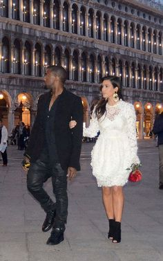 KimYe looked like quite the lovely couple in Venice, celebrating Kim's birthday.    17      9