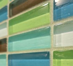 And I love the glass grout, too!!  Modwalls Lush Blend installed with Opal StarGlass Grout