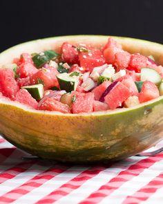 Watermelon, Cucumber, Feta Salad