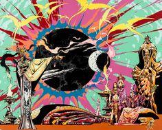 alex nino - heavy metal 1979 calendar illustration, 1978