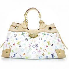 This is an authentic LOUIS VUITTON Multicolor Ursula White. This stunning  tote is structured of ae674fe373a13