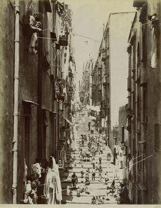 Santa Lucia, Naples, Italy by Carlo Brogi - 1890, circa