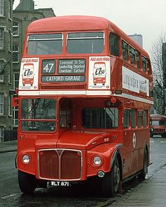 A 1962 Routemaster, in Tooley Street, Bermondsey, Southwark, laying over on a short working of route 47. This bus worked in London until 1987.