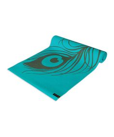 Take a look at this Turquoise Peacock Feather Yoga & Pilates Mat by Wai Lana on #zulily today!