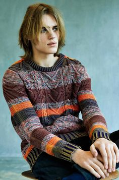 Men's knit sweaters. Ton Heukels for Scotch & Soda Fall/Winter 2013
