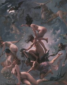 Witches Going to Their Sabbath - Luis Ricardo Falero, 1878