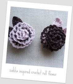 Zakka Inspired Crochet Roll Flower Brooch Pattern