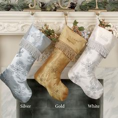 Tremendous Shimmering Snowflake Stocking Snowflakes Stockings And Simple Easy Diy Christmas Decorations Tissureus