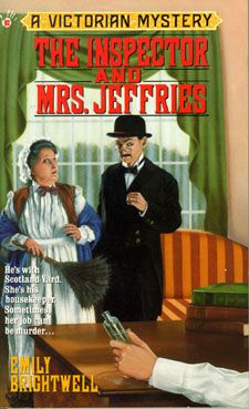 A light hearted Victorian mystery series of 28 books, featuring Inspector Witherspoon, who is hopeless at solving crimes and his housekeeper, Mrs Jeffries, who has the ability he lacks.