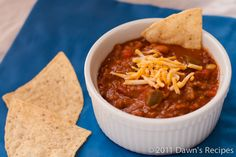 Meat & Bean Chili - I made mine with a mixture of beef and goat, but you can use any type of ground meat you like!