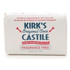 EWG Score = 0!!  Kirk's Original Coco Castile Bar Soap, Fragrance Free || Skin Deep® Cosmetics Database | EWG