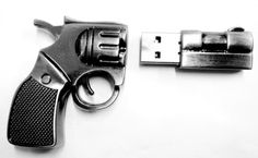 USB revolver. I think I'll get this for Valentines Day for Conrad. Shhhsh, it's a secret okay?