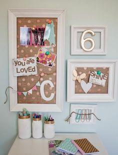 espace créatif dans une chambre ado, idées créatives avec des pots en verre