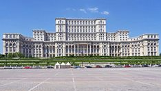 Palace of the Parliament in Bucharest, Romania. Built from for 3 billion euros. Designed by 700 architects under direction of chief architect by Anca Petrescu. Romania Facts, Palace Of The Parliament, Palacio Imperial, Chief Architect, Bucharest Romania, Le Palais, European Destination, City Buildings, Office Buildings