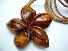 Hawaiian Jewelry Genuine Koa Wood Plumeria by IslandCraftwork, $24.99