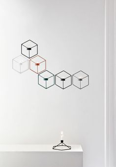 The POV Series Wall Candle Holder features a light, smart, playful design that's beautiful on its own or when used to create graphical patterns on the wall. If you move around the different designs and shapes in the POV Series, you'll notice that . Note Design Studio, Notes Design, Modern Candle Holders, Tealight Candle Holders, Candleholders, Candlesticks, Table Design, Menu Design, Chandeliers