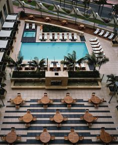 Omni San Diego Hotel, Palm Terrace and pool. This would be a great place to spend a weekend away from home. Melt the stress away!