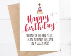 Funny Birthday Card Boyfriend Friend By FlairandPaper Best Cards For