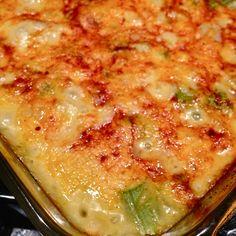 Cheesy Asparagus and Potato Bake