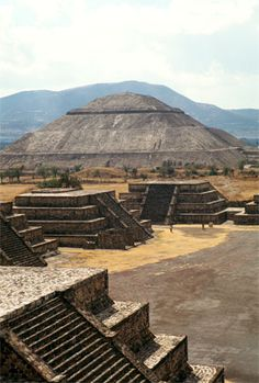 The Pyramid of the Sun is the largest structure in the ancient city of Teotihuacan, Mexico.