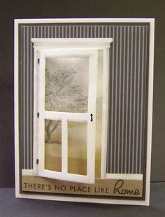 No Place Like Home by hobbydujour - Cards and Paper Crafts at Splitcoaststampers windowcards Memory Box Cards, Memory Box Dies, Cool Cards, Diy Cards, Housewarming Card, New Home Cards, Window Cards, Scrapbook Cards, Scrapbooking