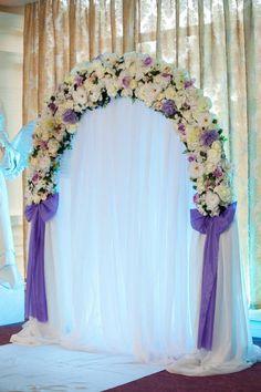 Организация и проведение свадьбы в ресторане Киев от Девина дизайн бело-фиолетовая свадьба ведущая выездной церемонии Наталья Девина