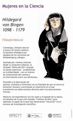La abadesa, médica, compositora y filósofa Hildegarda de Bingen (1098-1179) nació un 16 de septiembre