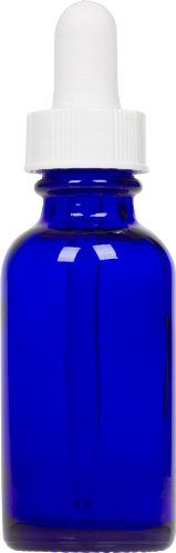 Cobalt Blue Glass Boston Round Bottle w/ White Glass Dropper 1 oz 6 Pack. 20-400 neck size 7 x 75mm glass dropper. 32 mm .1.26 in. diameter 79 mm .3.11 in. height. Cobalt blue glass Boston Round with white dropper 6 pack. 1 oz (30 mL) glass Boston Round. Great for travel or at home. Dimensions. Minimize contamination and spoilage. 79mm Height 32mm Diameter. Store those serums, liquids, and gels without contamination!
