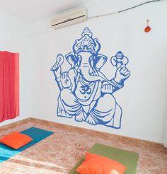 ik490 Wall Decal Sticker Ganesha Om Elephant Hindu welfare meditation Yoga