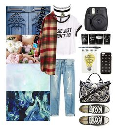 """""""BASIC JUST WON'T DO"""" by ep2eka ❤ liked on Polyvore featuring Converse, rag & bone, H&M, Cleobella, Bella Freud, Fuji, BIC, Charlotte Russe, J.Crew and PolyPower"""