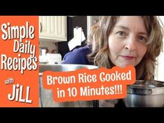 Pressure Cook Brown Rice in 10 Minutes from @Jill McKeever of Simple Daily Recipes (welcome her as a new pinner to our extra-strength pressure cooker board!!)