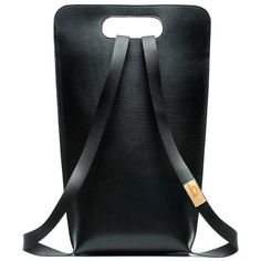 Simple be bags Leather Backpack Small - black (710 BRL) ❤ liked on Polyvore featuring bags, backpacks, black, leather bags, leather backpacks, leather knapsack, backpack bags and leather rucksack