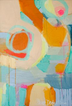 """""""Beg the Question"""" by Claire Desjardins - 24""""x36"""" - Acrylics on canvas."""