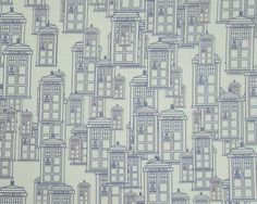 Police Box Fabric Fat Quarter  Tardis outlines on by spacefem, $8.00