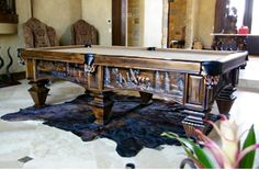 Schmidt Billiards Company has been meticulously handcrafting custom, luxury pool tables to fit your style. Tuscan Style Homes, Pool Table, Schmidt, Game Room, Entryway Tables, Your Style, Rustic, Cabinet, Luxury