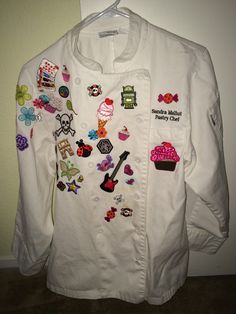 Patch Work Custom Chef Coats  Recyled or New Chef Coats by ThePatchworkChef on Etsy https://www.etsy.com/listing/216033600/patch-work-custom-chef-coats-recyled-or