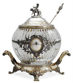Beautiful Russian Antique Punch Bowl