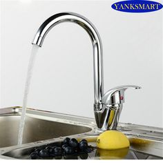 360 Swivel Kitchen Basin Sink Mixer Tap Fashionable swan Chrome Counter Top Kitchen Faucet Mixer Single Handle Vessel