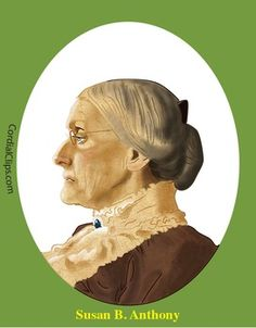 Susan B Anthony Realistic Clip Art Coloring Page And Poster