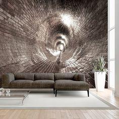 Papier peint intissé 50x35 cm - 3 couleurs au choix - Top vente - Papier peint - Tableaux muraux déco XXL - Brique Tunnel d-B-0037-a-d: Amazon.fr: Cuisine & Maison