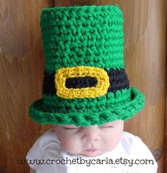 Baby Leprachaun Hat  Newborn to 3 Months Photo by CrochetbyCarla, $15.00