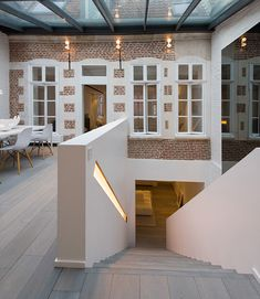 maison contemporaine design / blanc / intérieur moderne / salon, Mobel ideea
