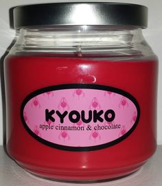 Kyouko Sakura inspired candle from the anime Puella Magi Madoka Magica.