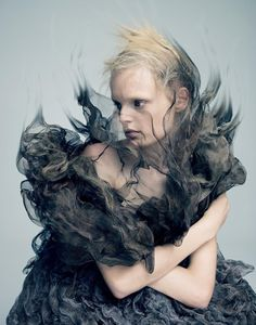 "before you kill us all: COVER & EDITORIAL A Magazine #13 Curated by Iris van Herpen ""Materia Lacrima"" feat. Hanne Gaby Odiele by Pierre Debusschere"