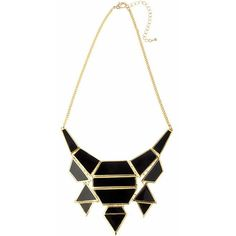 Statement Jet Black Drop Necklace (£28) ❤ liked on Polyvore featuring jewelry, necklaces, black, curb link necklace, curb-chain necklaces, polish jewelry, lobster clasp necklace and curb link chain necklace