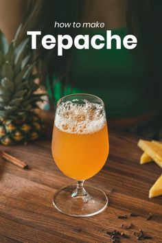 Tepache is a fermented pineapple recipe with flavors of cinnamon, cloves and even ginger. It's fruity, funky, and delicious. Pineapple Beer, Pineapple Drinks, Pineapple Recipes, Green Smoothie Cleanse, Green Smoothies, Juice Cleanse, Fruity Alcohol Drinks, Alcoholic Drinks, Beverages