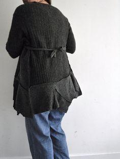 57be2c3bd54f2 Felted woodland wool gray monochromatic maxi by WiseSewcialTies Boyfriend  Sweater, Sweater Jacket, Woodland,