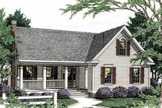 Country Exterior - Front Elevation Plan #406-245 - Houseplans.com