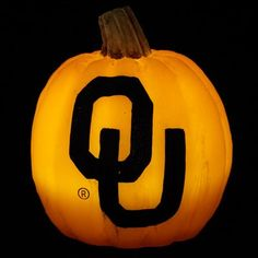 Oklahoma Sooners Wax Pumpkin Luminary