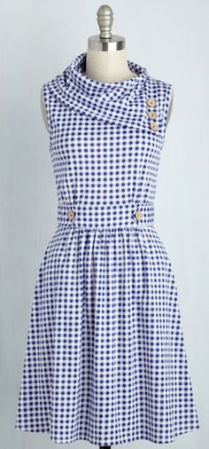 darling blue gingham picnic dress